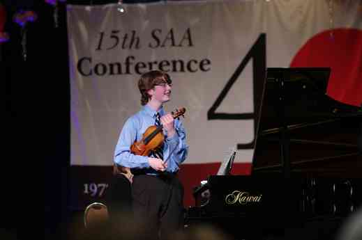 Violin master class at the 2012 Conference