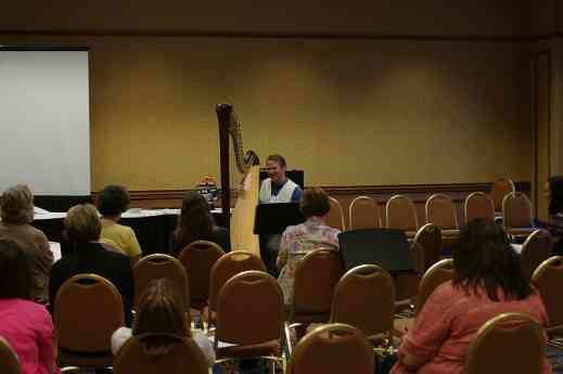 Jeremy Chesman gives a baroque ornamentation session at the 2012 conference