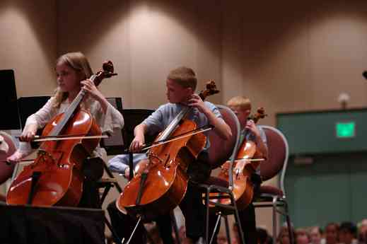 SYOA 1 cellos perform at the 2012 conference