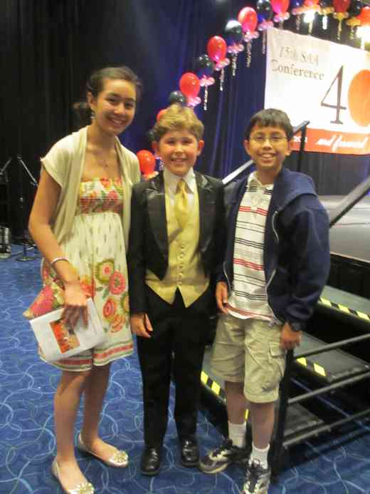 Kirsten Mossberg, Gavin George and Max Mossberg after Piano Concerto