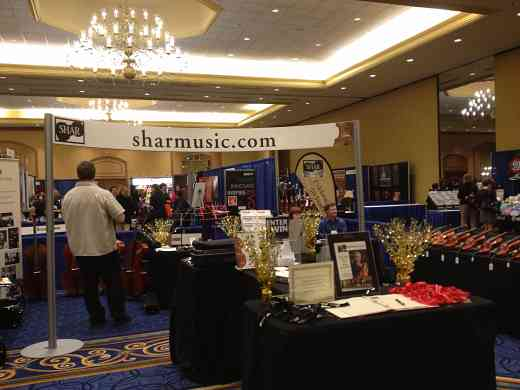 Shar Music exhibit booth at the 2012 Conference
