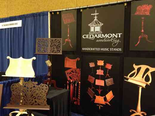 Cedarmont Woodworking exhibit booth at the 2012 Conference