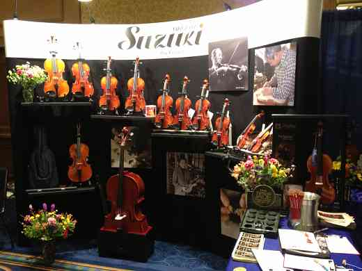 Nagoya Suzuki Violin exhibit booth at the 2012 Conference