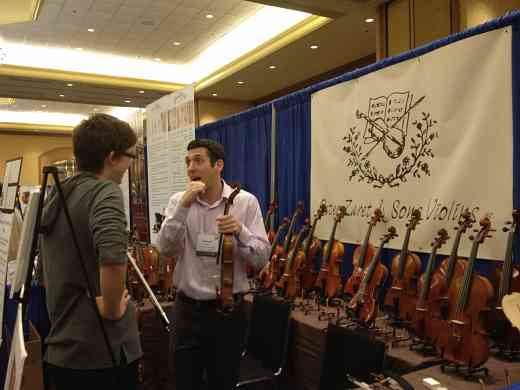 Peter Zaret & Sons Violins exhibit booth at the 2012 Conference