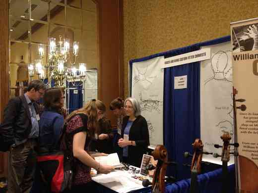Frisch & Denig Chinrests exhibit booth at the 2012 Conference