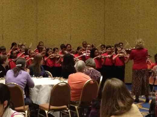 Parker Elementary Suzuki Strings performs at the 2012 Conference