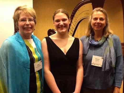 Teacher Pam Weest-Carrasco, master class participant Marjorie Gast and guest clinician Karen Gottlieb