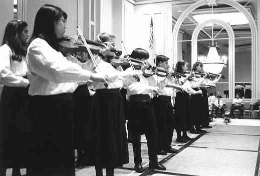 The luncheon also featured a performance by the Wheaton College Suzuki Program Viola Ensemble.