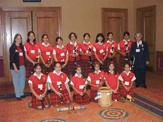 Latin American recorder student group at the 2004 SAA Conference