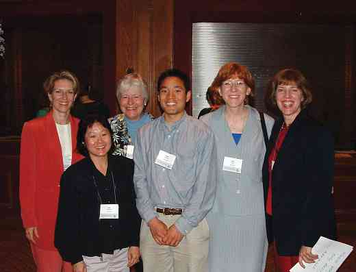 SAA staff members at the 2004 SAA Conference