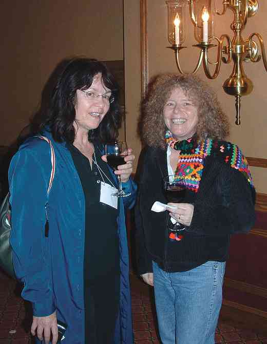 Caroline Fraser and friend at the 2004 SAA Conference