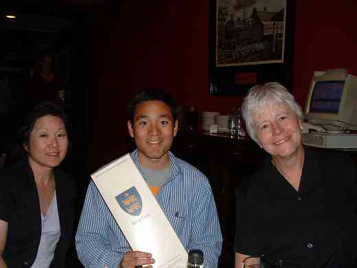 SAA staff members Deb Yamashita, Brett Yamashita, and Anita Hamilton at the 2004 SAA Conference