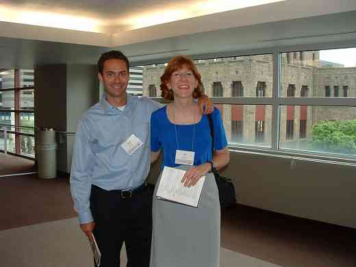 Jeremy Thomas and Chris Davis, SAA staff, at the 2004 SAA Conference