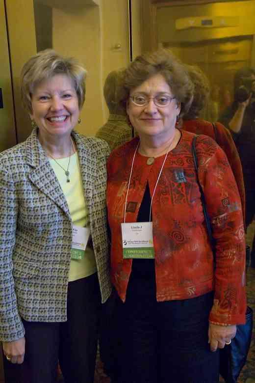 Fay Adams and Linda Gutterman at the 2006 SAA Conference