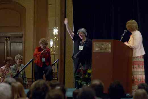 The conference team takes the stage at the 2006 SAA Conference opening ceremonies