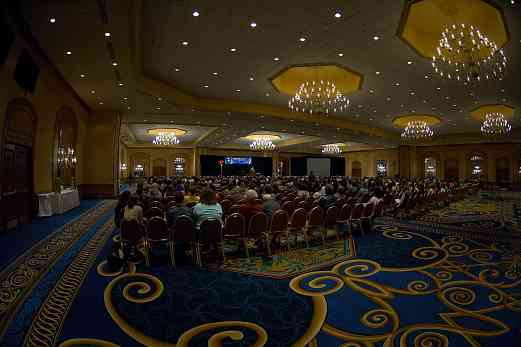 The 2006 SAA Conference opening ceremonies in the Hilton ballroom.