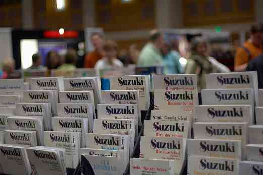 Suzuki Method books on display at the 2006 SAA Conference exhibits