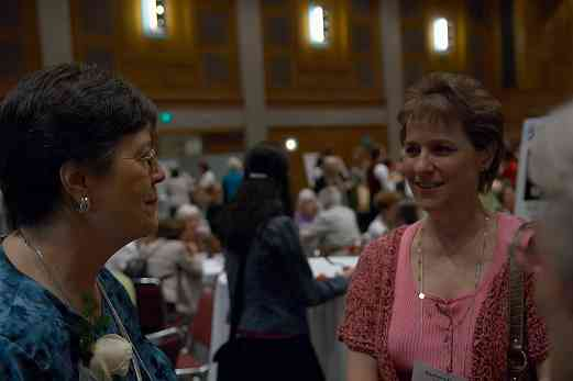 Alice Joy Lewis and Barbara Barber at the 2006 SAA Conference