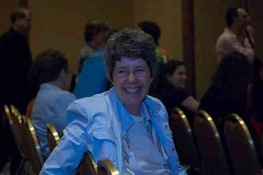 Harp coordinator Elinor Niemisto at the 2006 SAA Conference