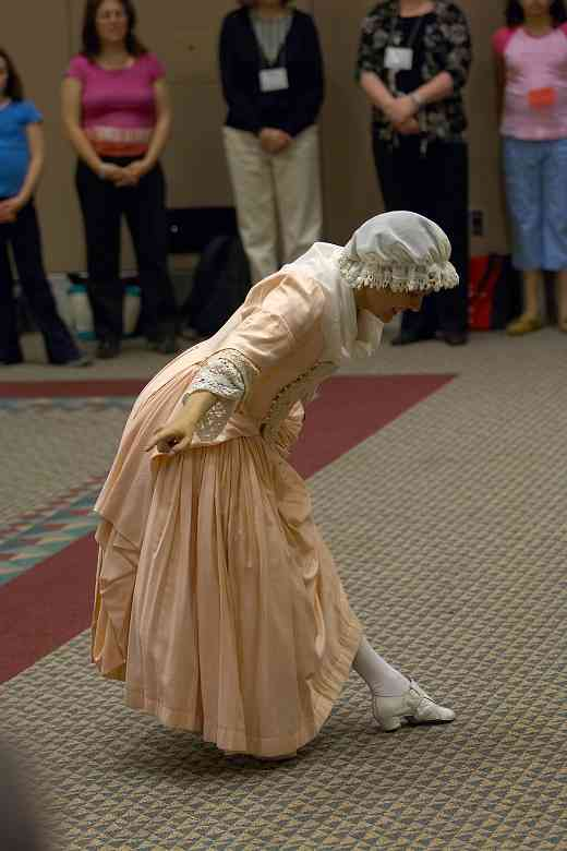 Jane Peck gives a Baroque dance session at the 2006 SAA Conference