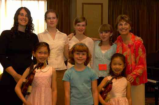 Nancy Lokken and students at the 2006 SAA Conference