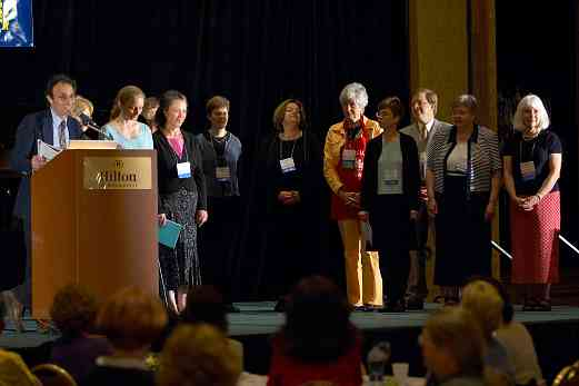 Paul Salerni  and the SAA board on stage at the 2006 SAA Conference