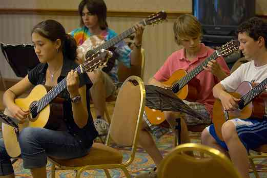 Guitar group class at the 2006 SAA Conference