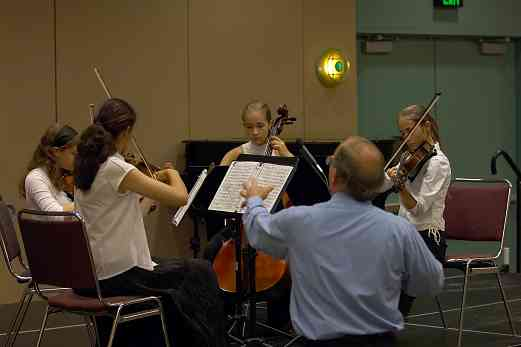 Capriccioso Quartet in the chamber ensemble masterclass at the 2006 SAA Conference