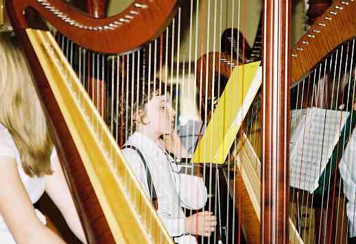 Suzuki harp student group.