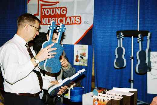 Foam-a-lins at the Young Musicians exhibit booth.