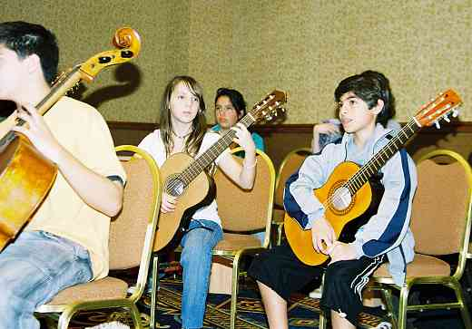 Latin American guitar students.