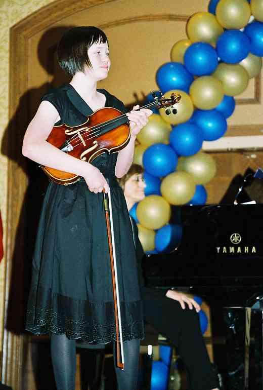 Violin student masterclass.