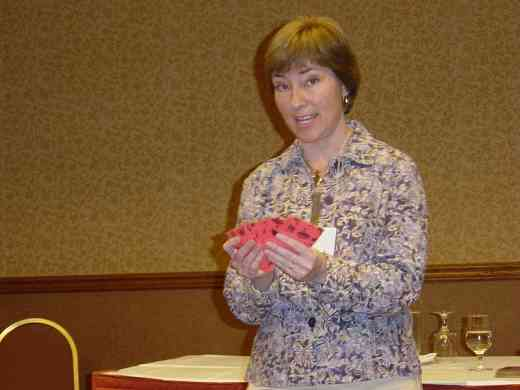 Bridget Jankowski speaks at the 2008 SAA Conference