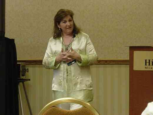 Diana Galindo speaks at the 2008 SAA Conference
