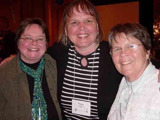 Wendy Seravalle-Smith, Nena LaMarre, and Elizabeth Sherk at the 2008 SAA Conference