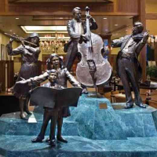 Statues in the Minneapolis Hilton Lobby