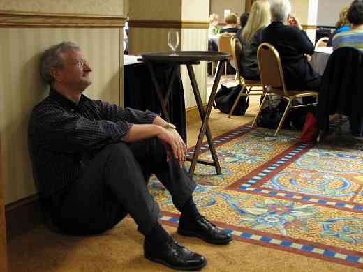 Jeff Cox in a creative moment at the 2008 SAA Conference