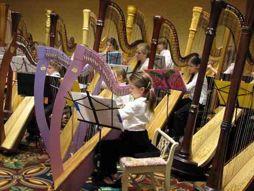 That's a lot of Suzuki harp students!