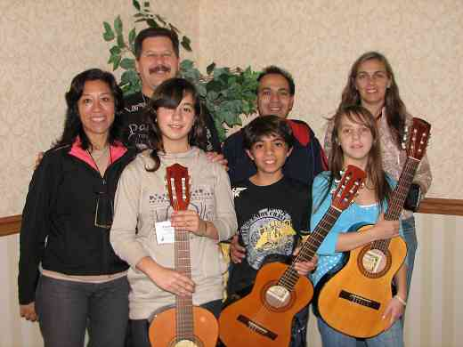 Latin American guitar students and families.