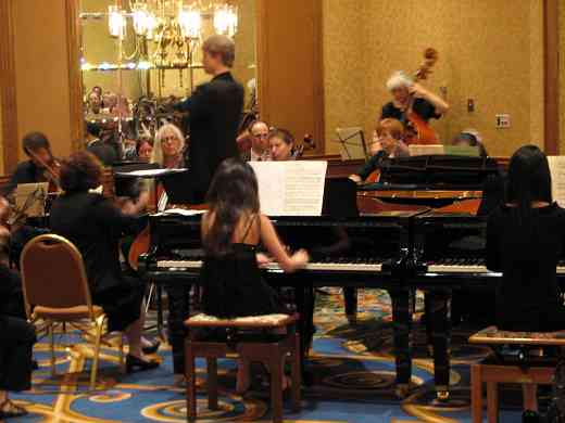 Four piano concerto performance at the 2008 SAA Conference