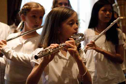 Flute choir performance at the 2008 SAA Conference
