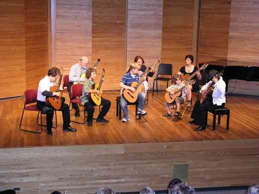 Guitar group concert at Brandon Suzuki Institute