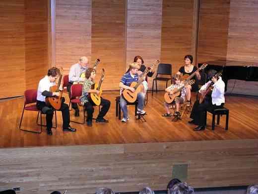 Guitar group concert at Brandon Suzuki Institute