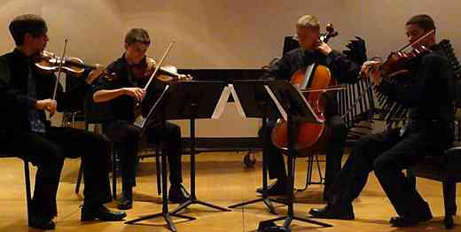 String quartet at Suzuki Music Columbus Summer Institute