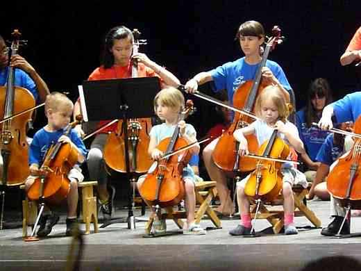 Cello group class at Suzuki Music Columbus Summer Institute
