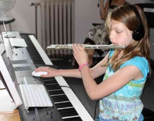 Flute student at Boston Suzuki Flute Institute