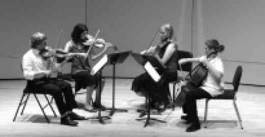 String quartet at Institut Suzuki Montréal