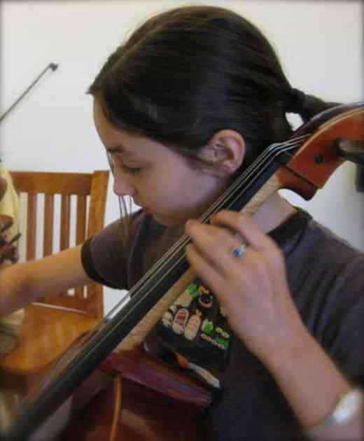 Cello student at New England Suzuki Institute