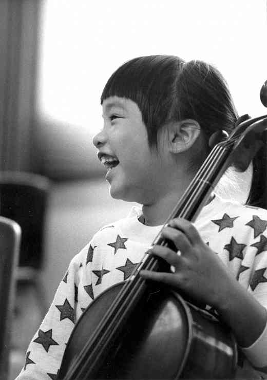 Cello student at Oregon Suzuki Institute