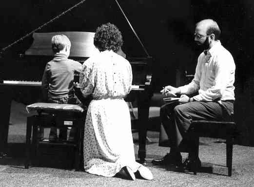 Piano lesson at Oregon Suzuki Institute